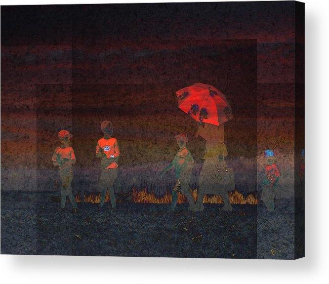 Red Umbrella Acrylic Print featuring the photograph Red Umbrella by Ernestine Manowarda