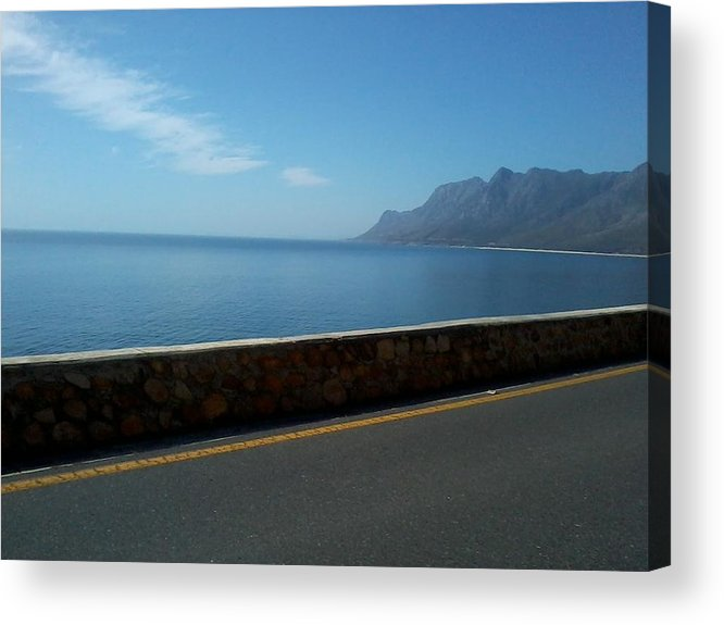 Landscape Acrylic Print featuring the photograph Road Mountain Sea And Sky by Abigail Van Meyeren