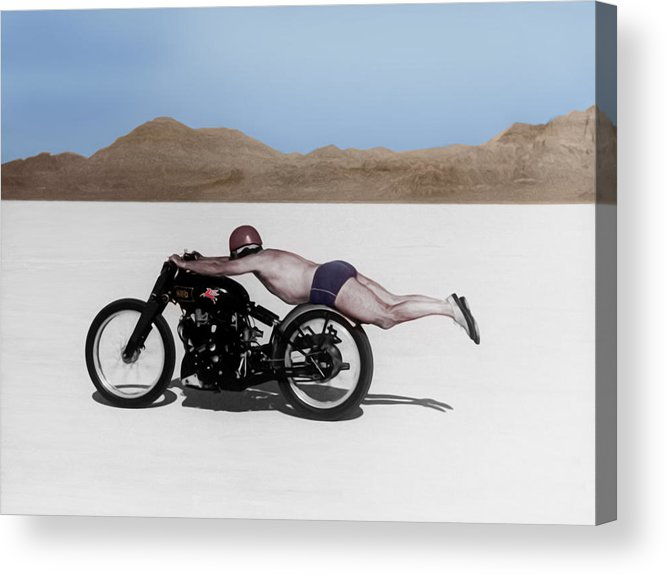Rollie Free Acrylic Print featuring the photograph Roland Rollie Free by Mark Rogan