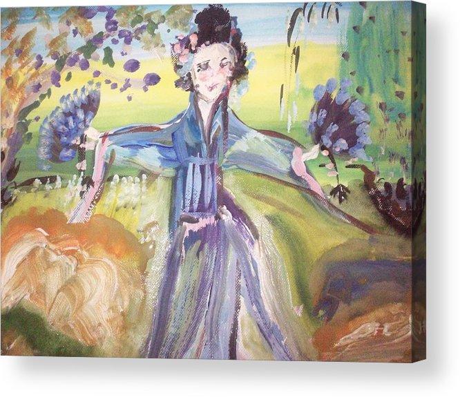 Geisha Acrylic Print featuring the painting Rural Geisha by Judith Desrosiers
