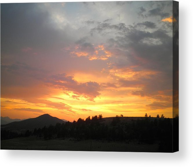 Clouds Acrylic Print featuring the photograph Saffron Clouds Glow by William McCoy