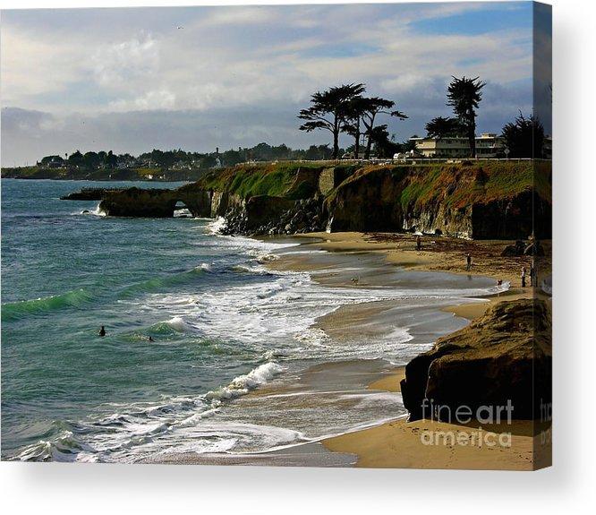 Santa Cruz Acrylic Print featuring the photograph Santa Cruz Beach by Carol Groenen