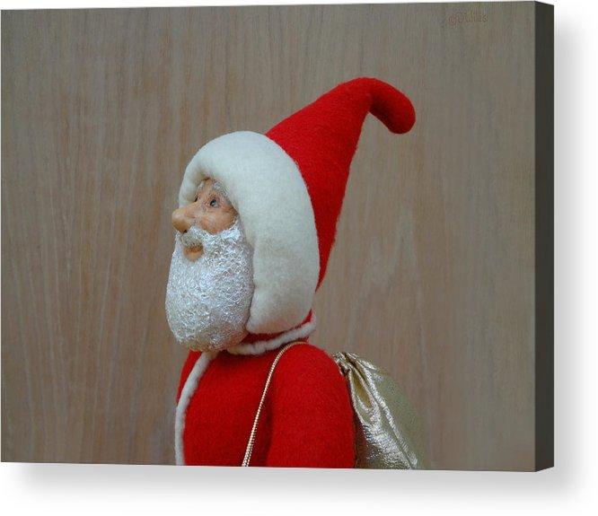 Santa Claus Acrylic Print featuring the sculpture Santa Sr. - Keeping The Faith by David Wiles