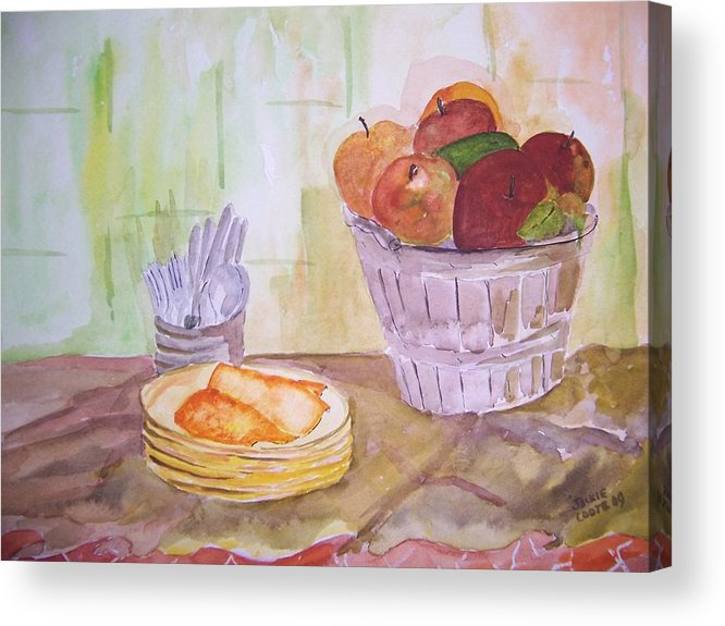 Basket Of Apples Acrylic Print featuring the painting Season's Finest by Jacqueline Coote