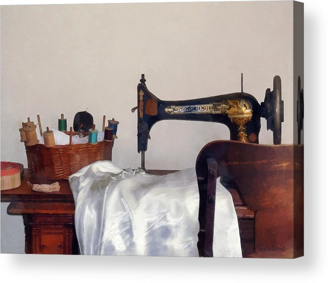 Sew Acrylic Print featuring the photograph Sewing Room by Susan Savad