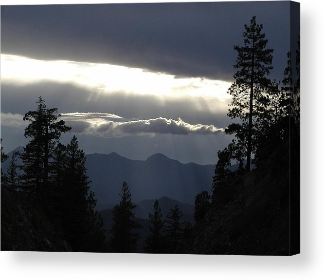 Zen Acrylic Print featuring the photograph Shelf Of Light Cloud by William McCoy