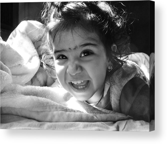 Children Acrylic Print featuring the photograph Smile by Makarand Purohit