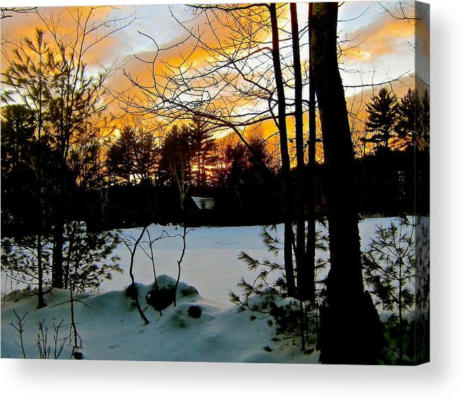 Pale Orange Acrylic Print featuring the photograph Fire And Ice by Elizabeth Tillar