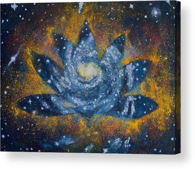 Stars Acrylic Print featuring the painting Spiral Bloom by Dennis Goodbee
