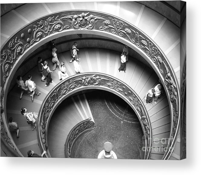 Barbara Bardzik Acrylic Print featuring the photograph Spiral Staircase by Barbara Bardzik