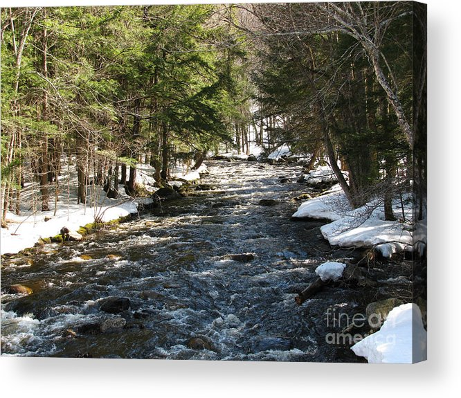River Acrylic Print featuring the photograph Spring Thaw by Nancie Johnson