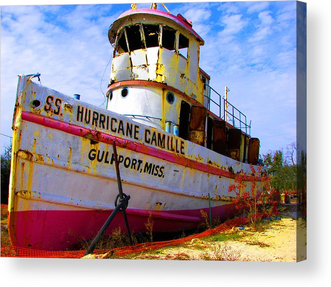 Rebecca Korpita Acrylic Print featuring the photograph Ss Hurricane Camille Tugboat by Rebecca Korpita