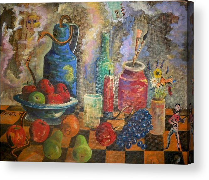 Still Life Acrylic Print featuring the painting Still Life by Dave Farrow