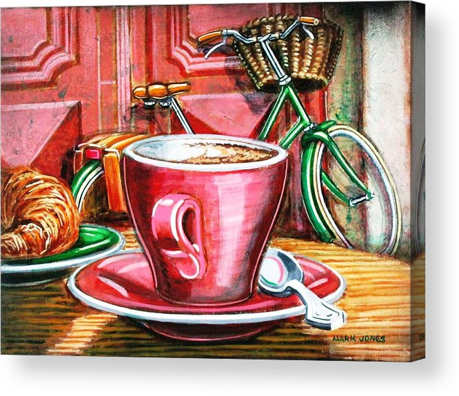 Still Life Acrylic Print featuring the painting Still Life With Green Dutch Bike by Mark Jones