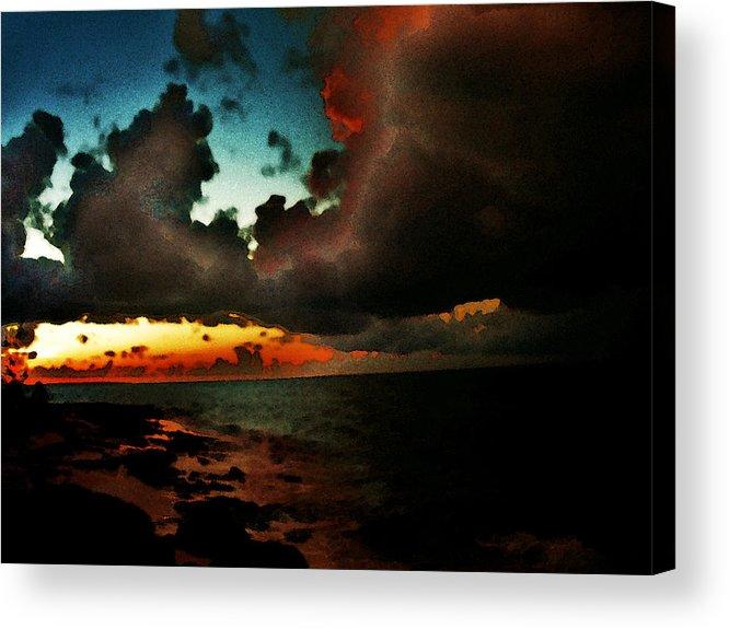 Storm At Sundown Acrylic Print featuring the photograph Storm At Sundown by Jillian Barrile