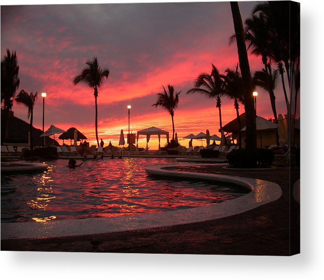 Paradise Acrylic Print featuring the photograph Sunset In Paradise by Shane Bechler