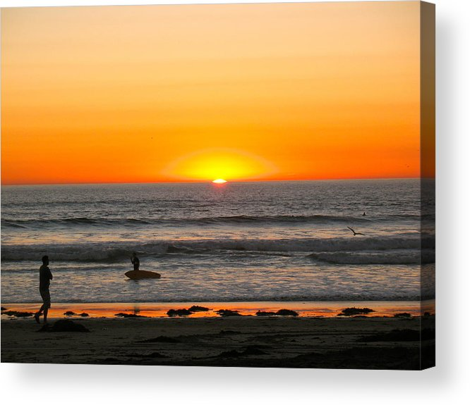 San Diego Acrylic Print featuring the photograph Sunset On The Pacific by Robert Wheeler