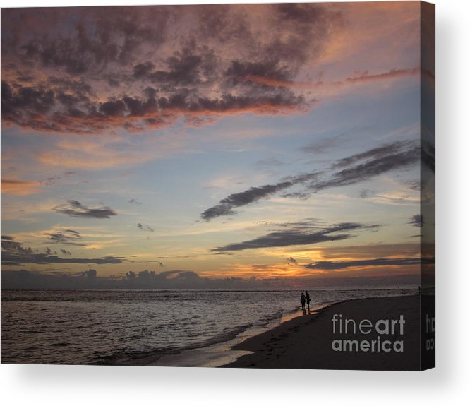 Sunset Acrylic Print featuring the photograph Sunset Stroll by Elizabeth Carr