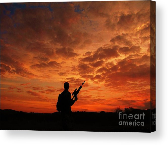 Sunrise Acrylic Print featuring the photograph Surviving The Apocalypse by Shane Brumfield