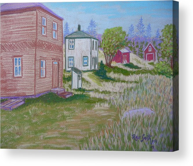 Eastern Points Acrylic Print featuring the pastel Syds Place Eastern Points Island by Rae Smith PSC