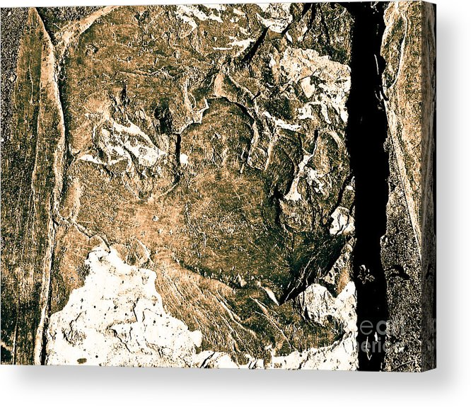 Abstract Acrylic Print featuring the photograph Texture No.2 Effect 5 by Fei A