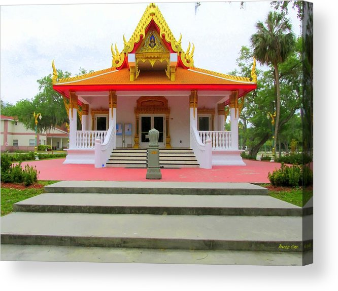 Buddhism Acrylic Print featuring the photograph Thai Buddhist Temple I by Buzz Coe