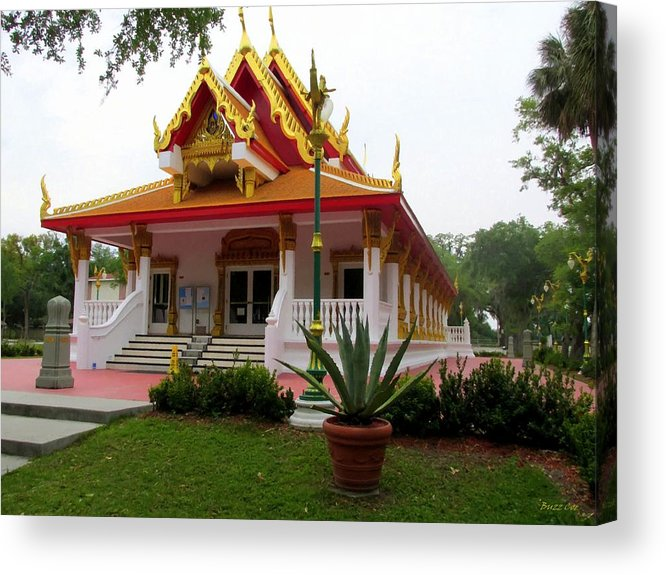 Buddhism Acrylic Print featuring the photograph Thai Buddhist Temple IIi by Buzz Coe