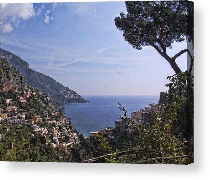 Amalfi Acrylic Print featuring the photograph The Amalfi Coast by Betty Eich