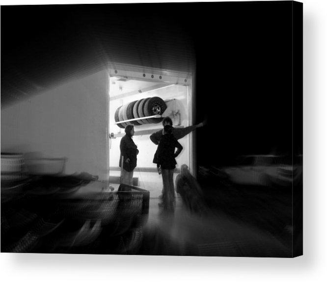 Black And White Acrylic Print featuring the photograph the Art of Waiting by Robert Shinn
