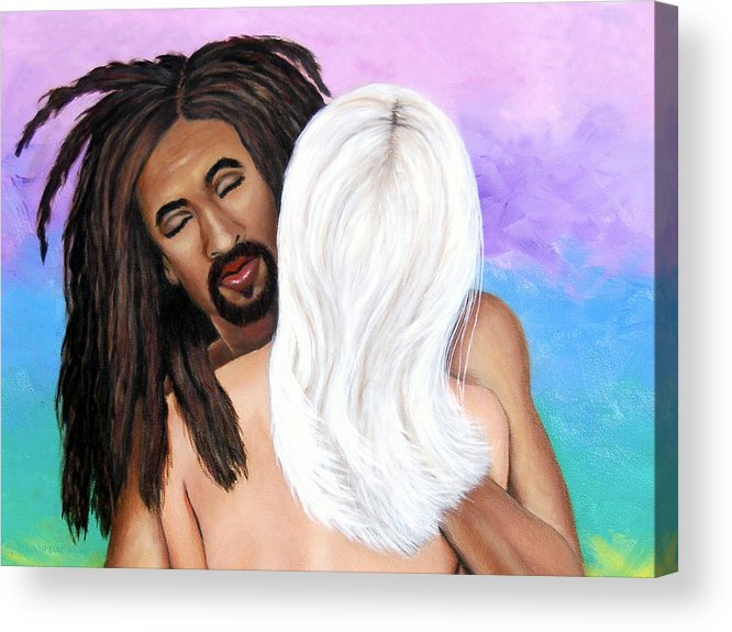 Diversity Acrylic Print featuring the painting The Color Of Love II by Donna Proctor
