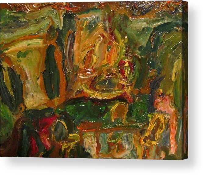 Dining Room Acrylic Print featuring the painting The Dining Room by Shea Holliman
