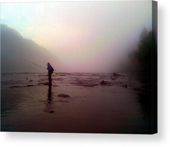 Fishing Acrylic Print featuring the photograph The Fisherman by Dwayne Gresham