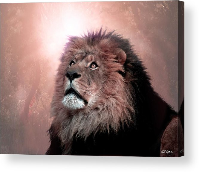 Lion Acrylic Print featuring the digital art The Garden by Bill Stephens