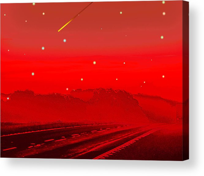 Digital Art Acrylic Print featuring the digital art The Great Escape by Wendy J St Christopher