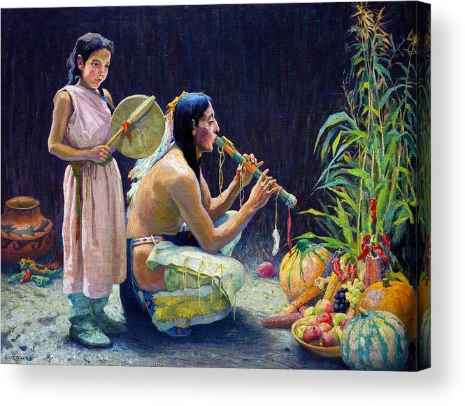 Eanger Irving Couse Acrylic Print featuring the photograph The Harvest Song by Eanger Irving Couse