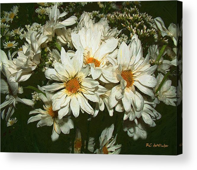 Bouquet Acrylic Print featuring the painting The Infinite Shades Of White by RC DeWinter