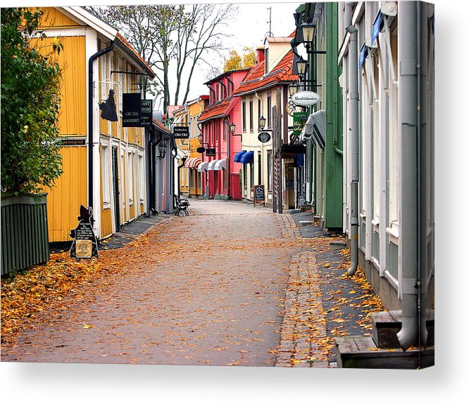 Main Street Acrylic Print featuring the photograph The Main Street Autum by Michael Nystrom