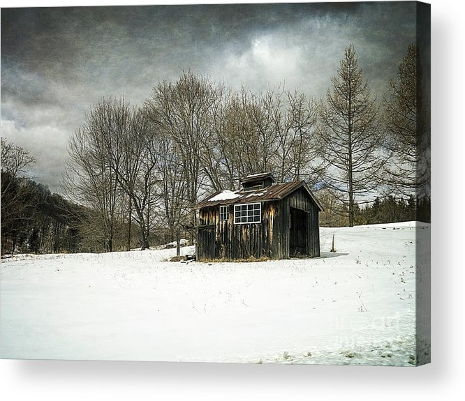 Collection Acrylic Print featuring the photograph The Old Sugar Shack by Edward Fielding