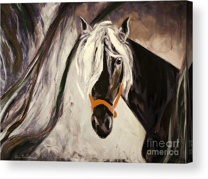 Horses Acrylic Print featuring the painting The Performer by Gina De Gorna