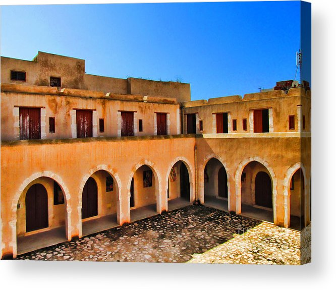 Architectur Acrylic Print featuring the painting the Presnt by Dhouib Skander