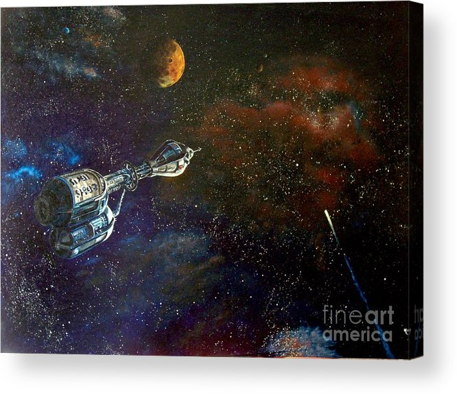 Vista Horizon Acrylic Print featuring the painting The Search For Earth by Murphy Elliott