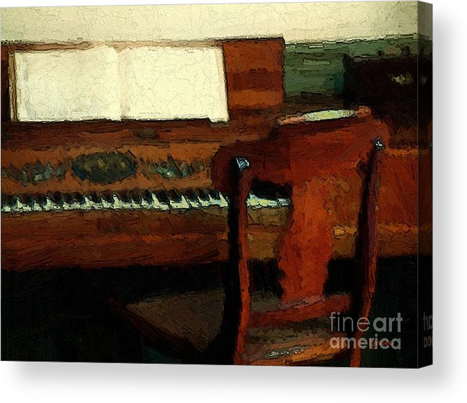 Colonial Acrylic Print featuring the painting The Square Piano by RC DeWinter