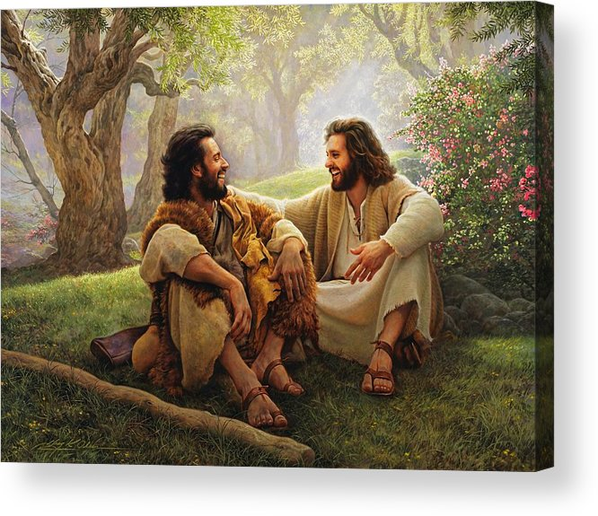 Jesus Acrylic Print featuring the painting The Way Of Joy by Greg Olsen