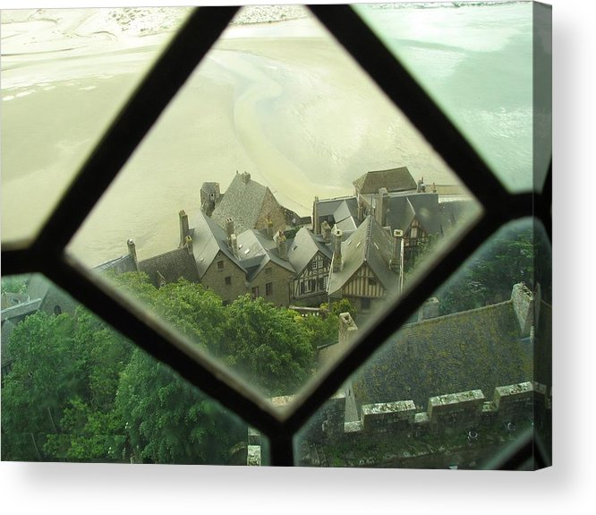 Le Mont St-michel Acrylic Print featuring the photograph Through A Window To The Past by Mary Ellen Mueller Legault