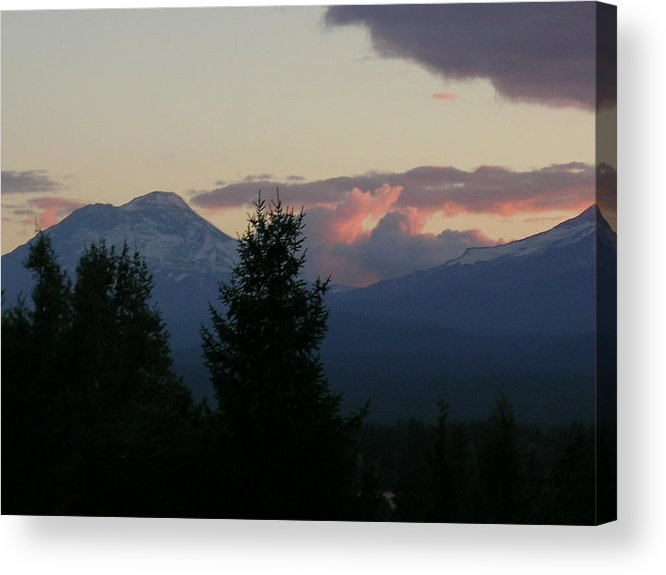 Thunderstorm Acrylic Print featuring the painting Thunder At Sunset by Jennifer Lake