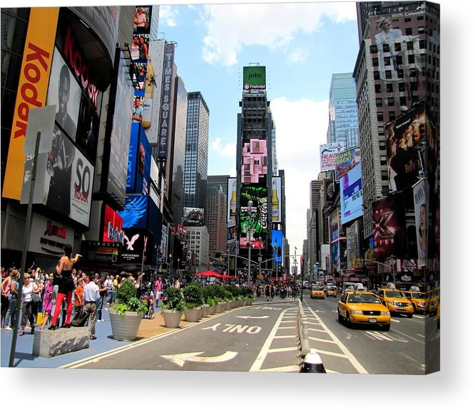 Times Square Acrylic Print featuring the photograph Times Square by Elizabeth Hardie