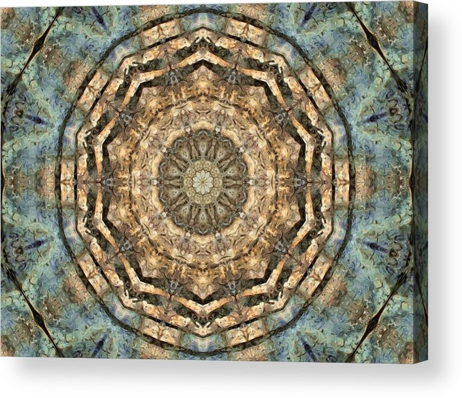 Abstract Acrylic Print featuring the digital art Touched By Light by Tom Druin