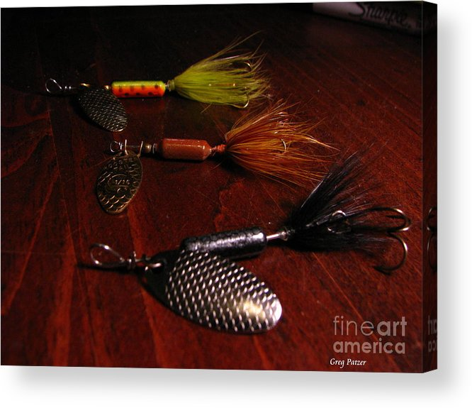 Patzer Acrylic Print featuring the photograph Trout Temptation by Greg Patzer