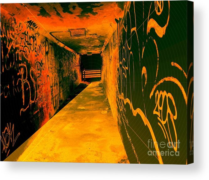 Tunnel Acrylic Print featuring the photograph Under The Bridge by Ze DaLuz