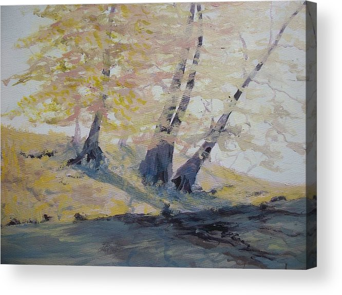 Oil Acrylic Print featuring the painting Undercut Bank by Dwayne Gresham